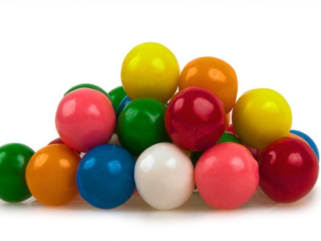 different color gum balls